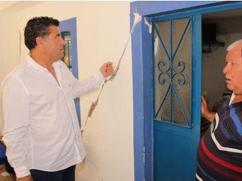 Başkan Mehmet Kocadon Depremzedeleri Ziyaret Etti