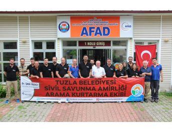 Afad, Tuzla Belediyesi Sivil Savunma Akt Ekibine 'arama Kurtarma' Eğitimleri Verdi