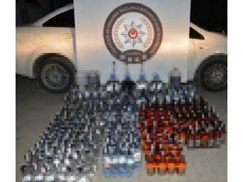 Denizli'de Kaçak Içki Operasyonu: 2 Gözaltı