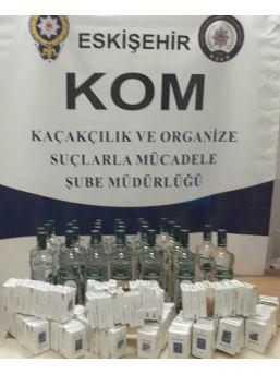 Eskişehir'de Kaçak Sigara Ve İçki Operasyonu