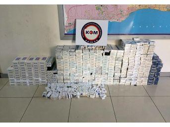Mersin'de 11 Bin 310 Paket Kaçak Sigara Ele Geçirildi