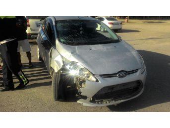Yaya Geçidinden Geçerken Otomobilin Çarptığı 2 Kadın Ağır Yaralandı