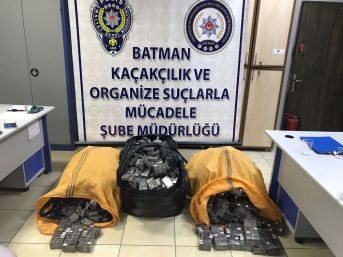 Batman'da 2 Bin 400 Paket Kaçak Sigara Ele Geçirildi