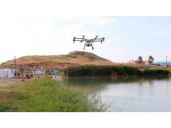 Edremit'te Drone İle İlaçlama Çalışması