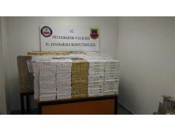 Diyarbakır'da Kargo Şirketinde Kaçak Sigaraya 5 Gözaltı