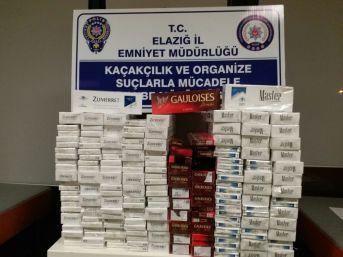 Elazığ'da Bin 210 Paket Kaçak Sigara Ele Geçirildi