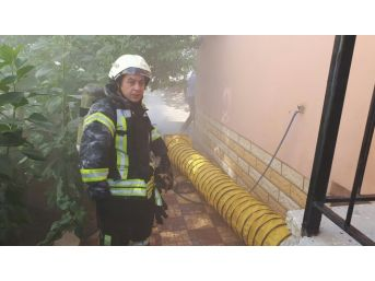 Karaman'da Kömürlük Yangını