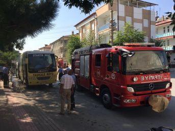 Karaman'da Midibüste Yangın Paniği