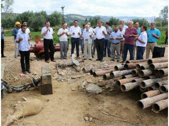 Eynal Kaplıcaları'nda Sıcak Su Sondaj Çalışması