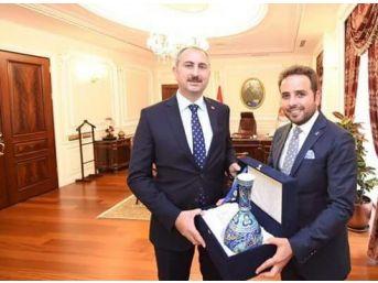 Milletvekili İshak Gazel, Adalet Bakanı Abdulhamit Gül İle Görüştü