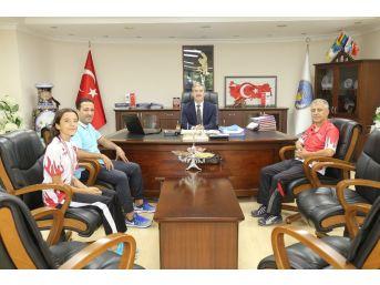 Başkan Şirin Türkiye 3.'sü Edanur'u Makamında Ağırladı