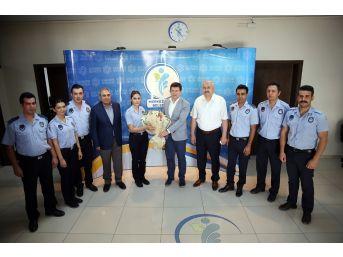 Merkezefendi Zabıta'dan Başkan Subaşıoğlu'na Ziyaret