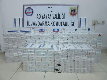 Jandarma Kaçak Sigara Ele Geçirdi