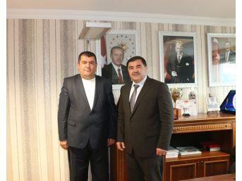 Kırkpınar Ağası Çetin, Tgf Başkanı Akın'ı Ziyaret Etti