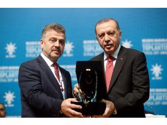 Gaziosmanpaşa Belediyesi'ne Cumhurbaşkanı Erdoğan'dan Ödül