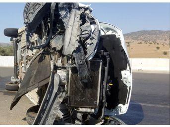 Ödemiş-izmir Yolunda Kaza: 1 Yaralı