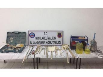 Kırklareli'de Kaçak Kazı Yapan 10 Kişi Yakalandı