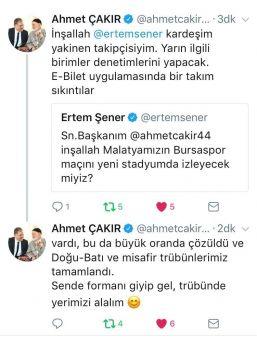Başkan Çakır'dan Maça Davet