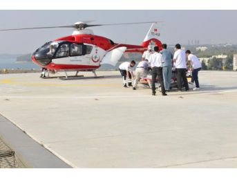 Adana Şehir Hastanesi, Ambulans Helikopterle Gelen Ilk Hastasını Kabul Etti