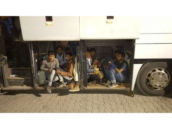 Doğubayazıt'ta Otobüsten 142 Kaçak Göçmen Çıktı