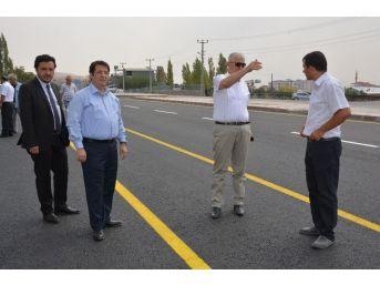 Aksaray'da Özel İdare -toki-akin Yolu Çift Taraflı Ulaşıma Açıldı
