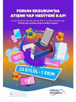 Forum Erzurum'da Atışını Yap, Hediyeni Kap