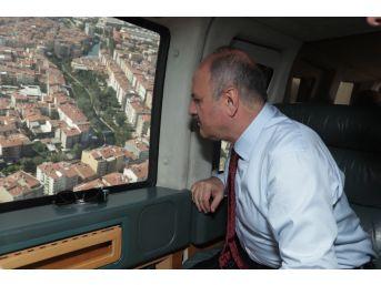 Vali Çakacak, Eskişehir'i Havadan İnceledi