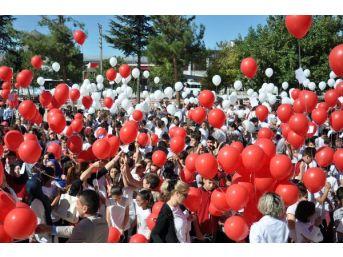 15 Temmuz Şehitlerine Mektup Yazıp, Balonla Gökyüzüne Bıraktılar