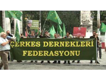 Galatasaray Meydanı'nda Çerkes Eylemi