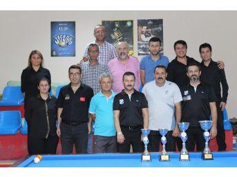 Karaman'da İl Kontenjanı Üç Bant Bilardo Turnuvası Sona Erdi