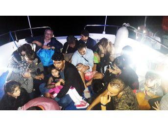 Bodrum Akyarlar'da 18 Düzensiz Göçmen Yakalandı