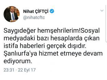 Şanlıurfa Büyükşehir Belediye Başkanının İstifa Ettiği İddiası Sosyal Medyayı Salladı