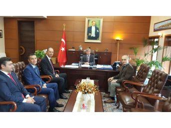 Basın İlan Kurumu Heyeti Vali Çınar'ı Ziyaret Etti
