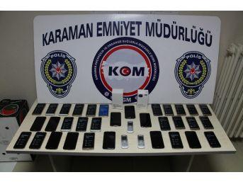 Karaman'da Çok Sayıda Kaçak Cep Telefonu Ele Geçirildi