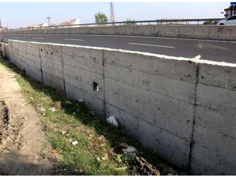 Çerkezköy'de 630 Metre İstinat Duvarı Yapıldı