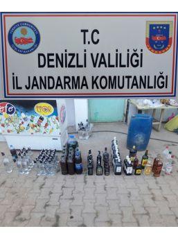 Denizli'de 253 Litre Sahte Alkol Yakalandı