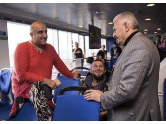 Başbakan Yıldırım, Feribotta Kaptan Köşküne Çıktı