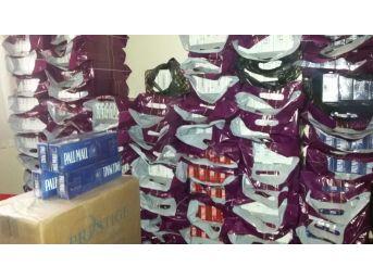 Kom Ekipleri 7 Bin 300 Paket Kaçak Sigara Ele Geçirdi