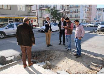 Çerkezköy'de Cadde Ve Sokaklarda Çalışmalar Sürüyor