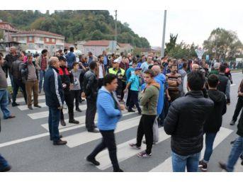 Zonguldak Ereğli'de Kazaların Yaşandığı Yolda Eylem