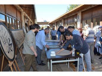 Camileri Süsleyecek Olan Hüsn-i Hat Tezyin Eserleri Göz Doldurdu