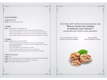 Adilcevaz'da 24. Ceviz Festivali Ve Kültür Etkinlikleri
