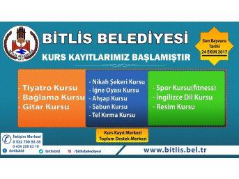Bitlis Belediyesinin Kurs Kayıtları Başladı
