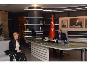 Baro Başkanı Azade Ay'dan Başkana Hayırlı Olsun Ziyareti