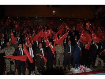 Tunceli'de, 15 Temmuz Şehitlerini Anma Programında Duygusal Anlar