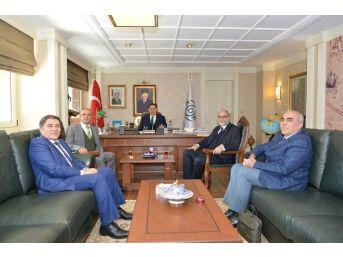Kamu Baş Denetçisi Malkoç, Uşak Üniversitesi Rektörünü Kabul Etti