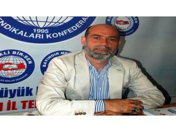 Eğitim Bir-sen Aydın Şube Başkanı Tevfik Aksoy, Sınav Sistemlerini Değerlendirdi