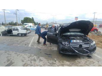 Ak Parti Milletvekilinin İçinde Bulunduğu Otomobil Kaza Yaptı