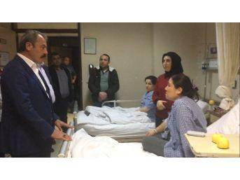 Milletvekili Şahin Tin'den Zehirlenen İşçilere Ziyaret