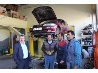 Başkan Tutal, Oto Sanayi Esnafını Ziyaret Etti